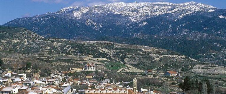 Trodos dağlarına ilk kar yağdı